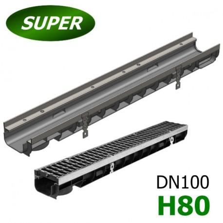 Лоток водоотводный Gidrolica Super ЛВ-10.14,5.08 пластиковый, кл. E600