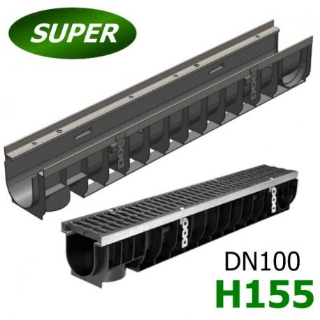 Лоток водоотводный Gidrolica Super ЛВ-10.14,5.15,5 пластиковый, кл. E600