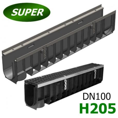 Лоток водоотводный Gidrolica Super ЛВ-10.14,5.20,5 пластиковый, кл. E600