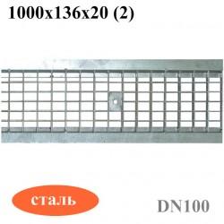 Решетка  водоприемная РВ-10.13,6.100 ячеистая стальная
