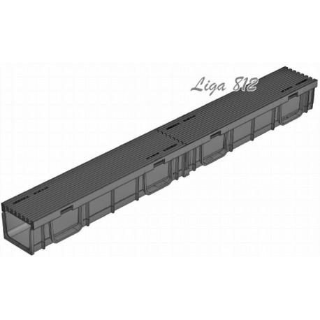 Лоток Gidrolica Light ЛВ-10.11,5.9,5 с пластиковой решеткой (ячейка)