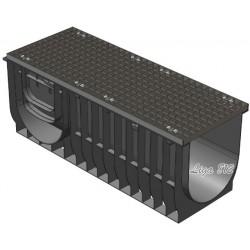 Лоток Gidrolica Light ЛВ-30.38.48 с решеткой стальной (ячейка)