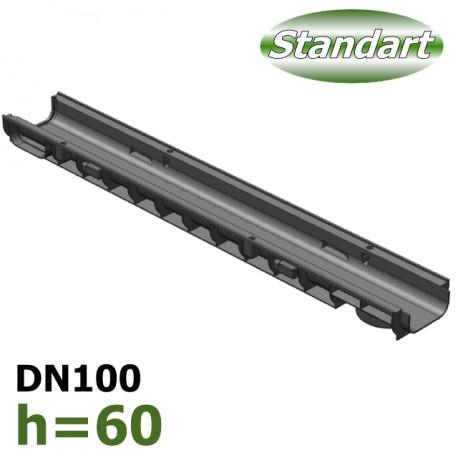 Лоток водоотводный Gidrolica Standart ЛВ-10.14,5.06 пластиковый