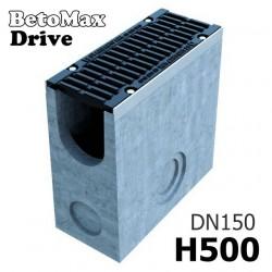 Пескоуловитель BetoMax Drive ПУ-15.21.50-Б бетонный с решеткой щелевой чугунной ВЧ кл. D