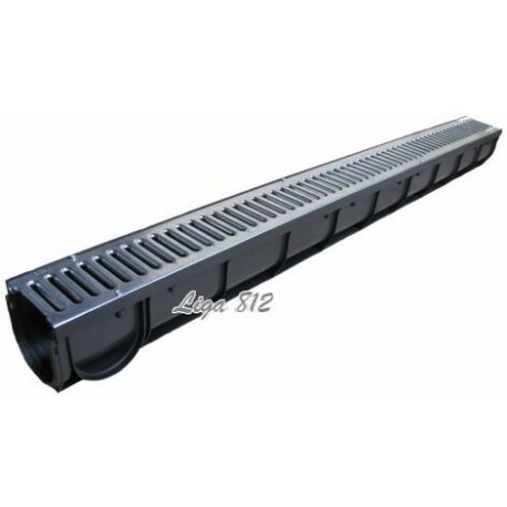 Лоток водоотводный Spark ЛВ-07.09.09-ПП пластиковый с решеткой штампованной стальной