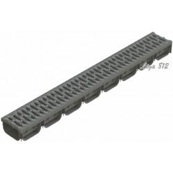 S'park DN100 H70 серый c пластиковой решеткой