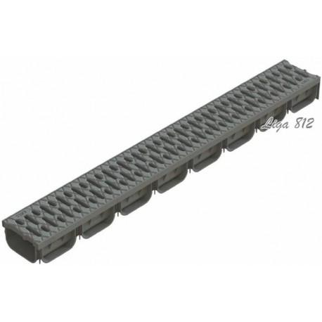 Лоток S'park ЛВ-10.14.07-ПП пластиковый серый с решеткой пластиковой