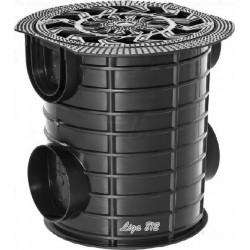 Дождесборник S'park ДС-25-ПП круглый пластиковый с решеткой (комплект)