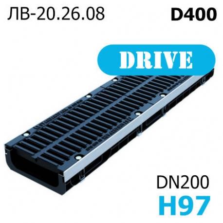 Лоток PolyMax Drive ЛВ-20.26.08-ПП c РВ щель ВЧ кл. D (к-т) 085134