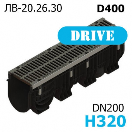 Лоток PolyMax Drive ЛВ-20.26.30-ПП c РВ щель. ВЧ кл. D (к-т) 0856034