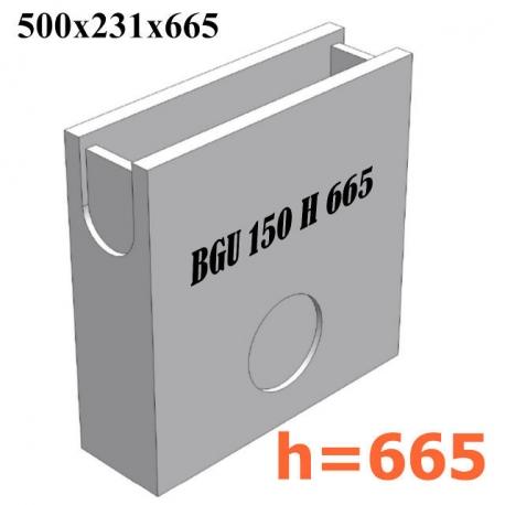 BGU Пескоуловитель DN 150, 500/231/665 (бетонный)