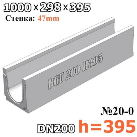 BGU Универсальный лоток DN200, № 20-0, без уклона высота 395