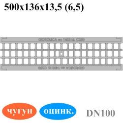 Решетка водоприемная РВ-10.13,6.50 ячеистая чугунная ВЧ оцинкованная