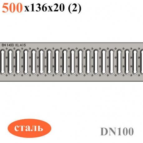 Основноей вид: Решетка  водоприемная РВ -10.13,6.50 - стальная оцинкованная