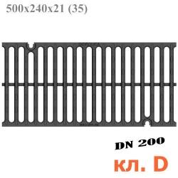 Решетка водоприемная Gidrolica Super РВ-20.24.50 щелевая чугунная ВЧ, кл. D400