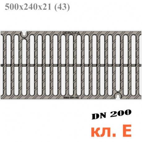 Решетка водоприемная Gidrolica Super РВ-20.24.50 щелевая чугунная ВЧ, кл. E600