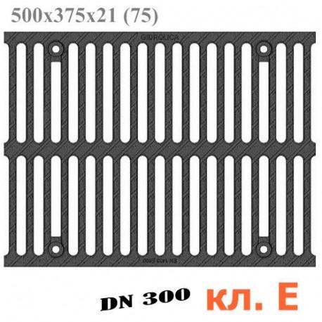Решетка водоприемная Gidrolica Super РВ-30.37,5.50 щелевая чугунная ВЧ, кл. E600