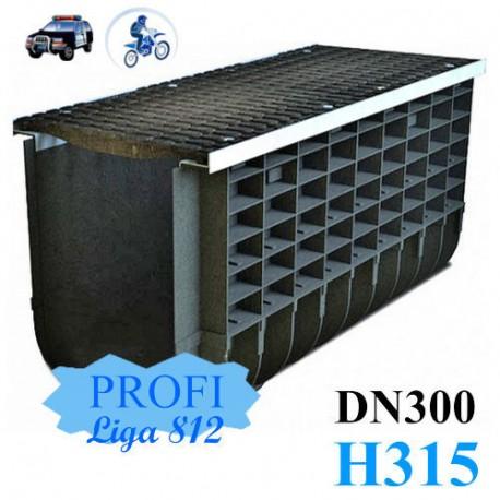 Лоток ЛВП Profi DN300 H315 C250 комплект с решеткой