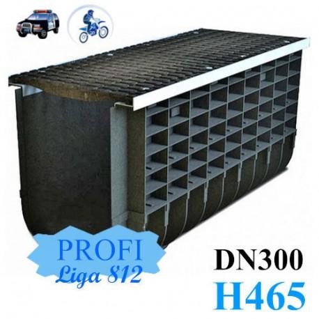 Лоток ЛВП Profi DN300 H465 C250 комплект с решеткой