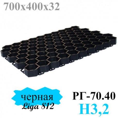 Газонная решетка 700х400 - пластиковая черная