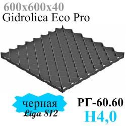 Решетка газонная 600х600х40 - пластиковая черная (модель)
