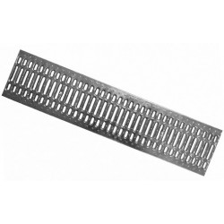 Схема: Решетка водоприемная Gidrolica Standart РВ -20.24.100 - штампованная стальная нержавеющая, кл. A15