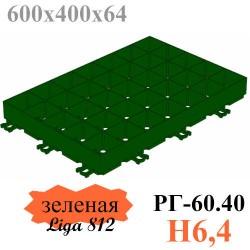 Решетка газонная Gidrolica Eco Super РГ-60.40.6,4 - пластиковая зеленая