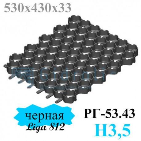 Газонная решетка Gidrolica Eco Normal РГ-53.43.3,5 - пластиковая черная