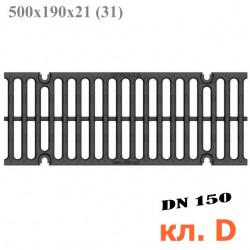 Чугунная решетка Gidrolica Super РВ -15.19.50, кл. D400