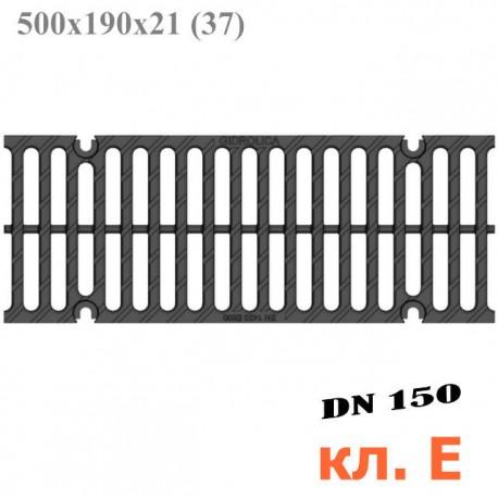 Чугунная решетка Gidrolica Super РВ -15.19.50, кл. E600