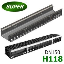 Лоток водоотводный Super ЛВ -15.19,6.11,8 - пластиковый