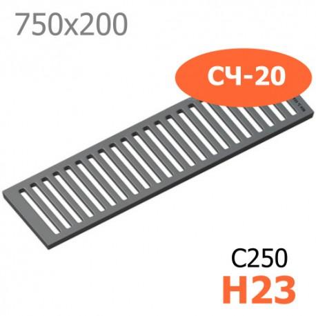 Чугунная решетка 750х200х23, СЧ-20, кл. C