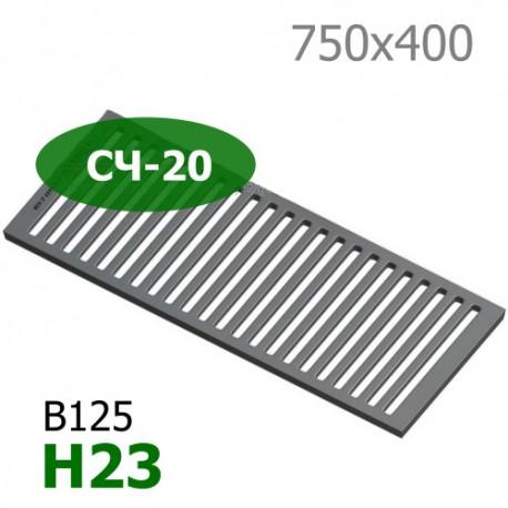 Чугунная решетка 750х400х23, СЧ-20, кл. C