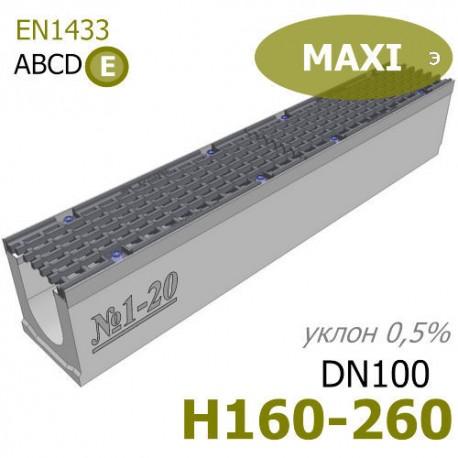 Бетонные лотки MAXI DN100 с уклоном
