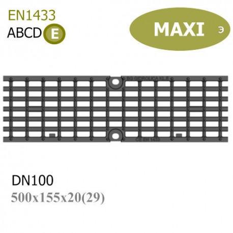 Решетка MAXI DN100 E600 чугунная (ячейка)