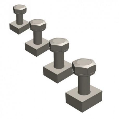 Крепежный болт для чугунных решеток, кл. D и E