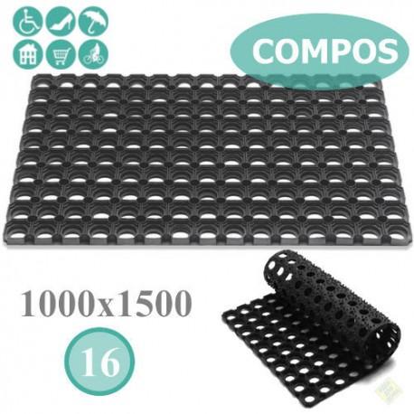 """Грязезащитный резиновый ячеистый коврик """"КОМПОС"""", 100х150 см."""