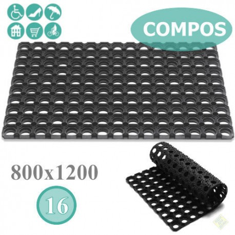 Ячеистый коврик с отверстиями COMPOS 800х1200