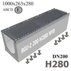 BGU-Z DN200 H280 №0 с решеткой, кл. E