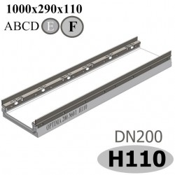 Лоток OPTIMA DN200, №0/1, высота 110