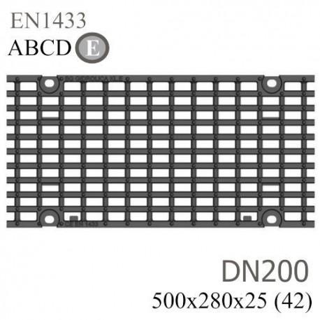 Решетка чугунная РЧВ Optima DN200 E600 «волна»