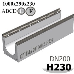 Лоток OPTIMA DN200, №0/2, высота 230