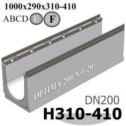 Лотки OPTIMA DN200 с уклоном