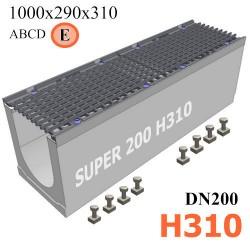 Бетонный лоток SUPER DN200 H310, кл. E