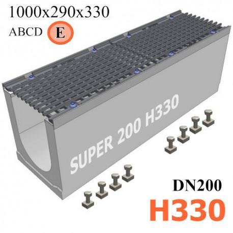 Бетонный лоток SUPER DN200 H330, кл. E