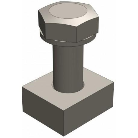 Крепежный комплект М10 (болт 10*25 и гайка 10*557)