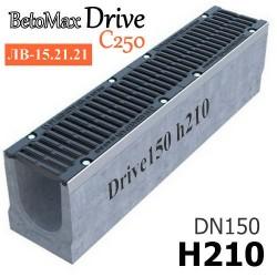 Лоток BetoMax Drive DN150 H210 с решеткой, кл. C (комплект)