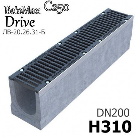 Лоток BetoMax Drive ЛВ-20.26.31-Б с РВ щель ВЧ кл.C (к-т)