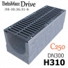 Лоток BetoMax Drive ЛВ-30.36.31-Б бетонный с решеткой щелевой чугунной ВЧ, кл. C (комплект)