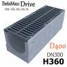 Лоток BetoMax Drive ЛВ-30.36.36-Б бетонный с решеткой щелевой чугунной ВЧ, кл. D (комплект)